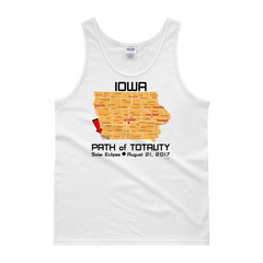 "Men's Tank Top:""Iowa"" PATH of TOTALITY Solar Eclipse August 21, 2017"