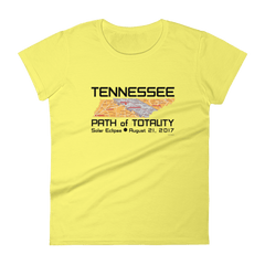 Women's Solar Eclipse Short Sleeve T-Shirt - Tennessee - Path of Totality August 21, 2017