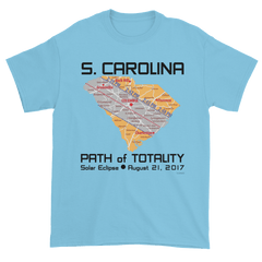 Men's Solar Eclipse Short Sleeve T-Shirt - South Carolina - Path of Totality August 21, 2017