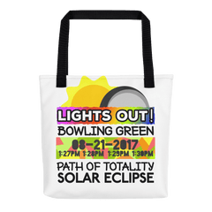 Solar Eclipse Tote Bag - Bowling Green KY - Path of Totality August 21, 2017