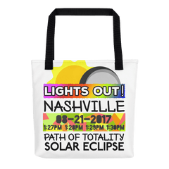 Solar Eclipse Tote Bag - Nashville TN - Path of Totality August 21, 2017
