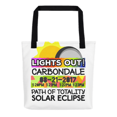 Solar Eclipse Tote Bag - Carbondale IL - Path of Totality August 21, 2017