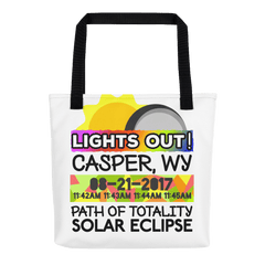 Solar Eclipse Tote Bag - Casper WY - Path of Totality August 21, 2017
