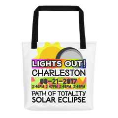 Solar Eclipse Tote Bag - Charleston SC - Path of Totality August 21, 2017