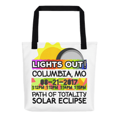 Solar Eclipse Tote Bag - Columbia MO - Path of Totality August 21, 2017