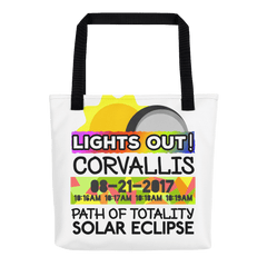 Solar Eclipse Tote Bag - Corvallis OR - Path of Totality August 21, 2017