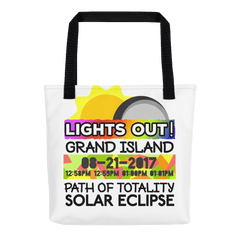 Solar Eclipse Tote Bag - Grand Island NE - Path of Totality August 21, 2017