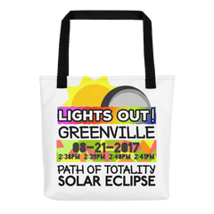 Solar Eclipse Tote Bag - Greenville SC - Path of Totality August 21, 2017
