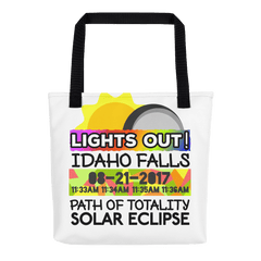 Solar Eclipse Tote Bag - Idaho Falls ID - Path of Totality August 21, 2017