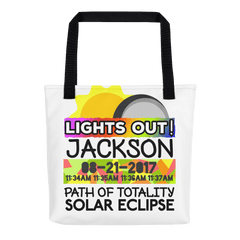 Solar Eclipse Tote Bag - Jackson WY - Path of Totality August 21, 2017