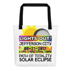 Solar Eclipse Tote Bag - Jefferson City MO - Path of Totality August 21, 2017