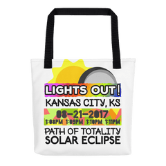 Solar Eclipse Tote Bag - Kansas City KS - Path of Totality August 21, 2017
