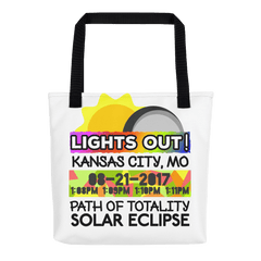 Solar Eclipse Tote Bag - Kansas City MO - Path of Totality August 21, 2017