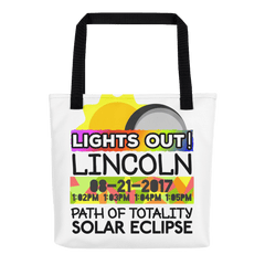Solar Eclipse Tote Bag - Lincoln NE - Path of Totality August 21, 2017