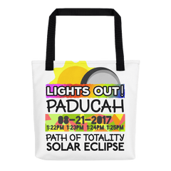 Solar Eclipse Tote Bag - Paducah KY - Path of Totality August 21, 2017