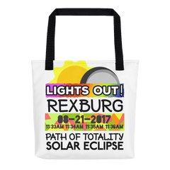 Solar Eclipse Tote Bag - Rexburg ID - Path of Totality August 21, 2017