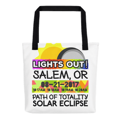 Solar Eclipse Tote Bag - Salem OR - Path of Totality August 21, 2017