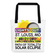 Solar Eclipse Tote Bag - St. Louis MO - Path of Totality August 21, 2017