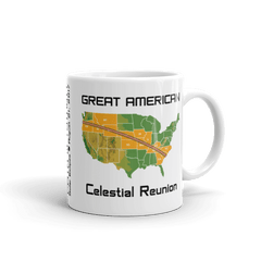 "Solar Eclipse Mug: ""USA08 TOPO"" PATH of TOTALITY Great American Celestial Reunion August 21, 2017 (Made in USA)"