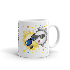 "Solar Eclipse Mug: ""Bonnie & Clyde"" PATH of TOTALITY August 21, 2017 (Made in USA)"