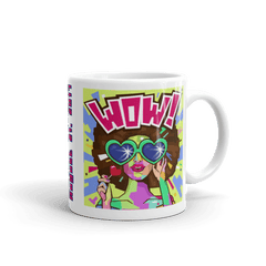 "Solar Eclipse Mug: ""PASSION POP"" - Pop Art - PATH of TOTALITY August 21, 2017 (Made in USA)"