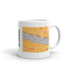 "Solar Eclipse Mug: ""Wyoming"" STATE MAP - PATH of TOTALITY August 21, 2017 (Made in USA)"