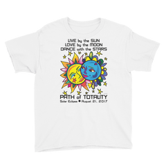 Boys Solar Eclipse Short Sleeve T-Shirt - Tarzan & Jane - Live Love Dance Path of Totality August 21, 2017