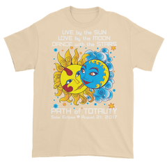 Men's Solar Eclipse Short Sleeve T-Shirt - Diego & Frida - Live Love Dance - Path of Totality August 21, 2017