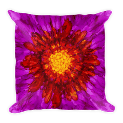 Solar Eclipse Throw Pillow - SUN BLOOM - Path of Totality August 21, 2017