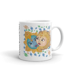 "Solar Eclipse Mug: ""Krishna & Radha"" PATH of TOTALITY August 21, 2017 (Made in USA)"