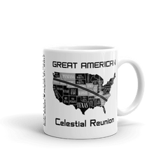 "Solar Eclipse Mug: ""USA11B"" PATH of TOTALITY Great American Celestial Reunion August 21, 2017 (Made in USA)"