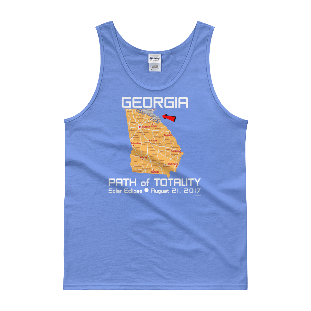 "Men's Tank Top:""Georgia"" PATH of TOTALITY Solar Eclipse August 21, 2017"