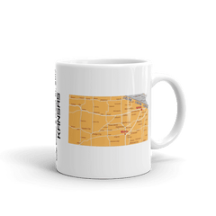 "Solar Eclipse Mug: ""Kansas"" -MAP- PATH of TOTALITY August 21, 2017 (Made in USA)"