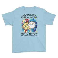Boys Solar Eclipse Short Sleeve T-Shirt - Han & Leia - Live Love Dance Path of Totality August 21, 2017