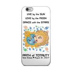 Solar Eclipse iPhone 5/5s/Se, 6/6s, 6/6s Plus Case - Krishna & Radha - Path of Totality August 21, 2017