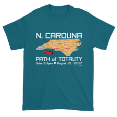 Men's Solar Eclipse Short Sleeve T-Shirt - North Carolina - Path of Totality August 21, 2017