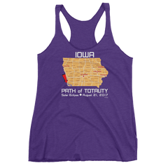 Women's Solar Eclipse Tank Top - Iowa - Path of Totality August 21, 2017