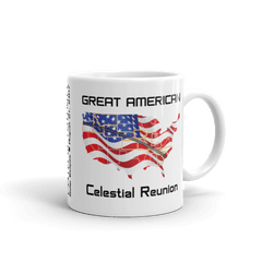 "Solar Eclipse Mug: ""USA09 FLAG"" PATH of TOTALITY Great American Celestial Reunion August 21, 2017 (Made in USA)"