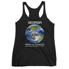 Women's Solar Eclipse Tank Top - Georgia - Earth/Moon - Path of Totality August 21, 2017