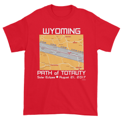 Men's Solar Eclipse Short Sleeve T-Shirt - Wyoming - Path of Totality August 21, 2017