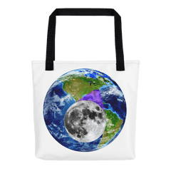 Tote Bag: - North Carolina - Earth/Moon - PATH of TOTALITY Solar Eclipse August 21, 2017