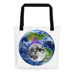 Tote Bag: - Kansas - Earth/Moon - PATH of TOTALITY Solar Eclipse August 21, 2017