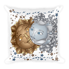 Solar Eclipse Throw Pillow - Deckard & Rachel - Path of Totality August 21, 2017