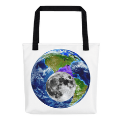 Tote Bag: - South Carolina - Earth/Moon - PATH of TOTALITY Solar Eclipse August 21, 2017