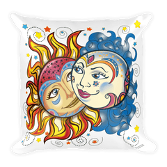 Solar Eclipse Throw Pillow - Noah & Allie - Path of Totality August 21, 2017