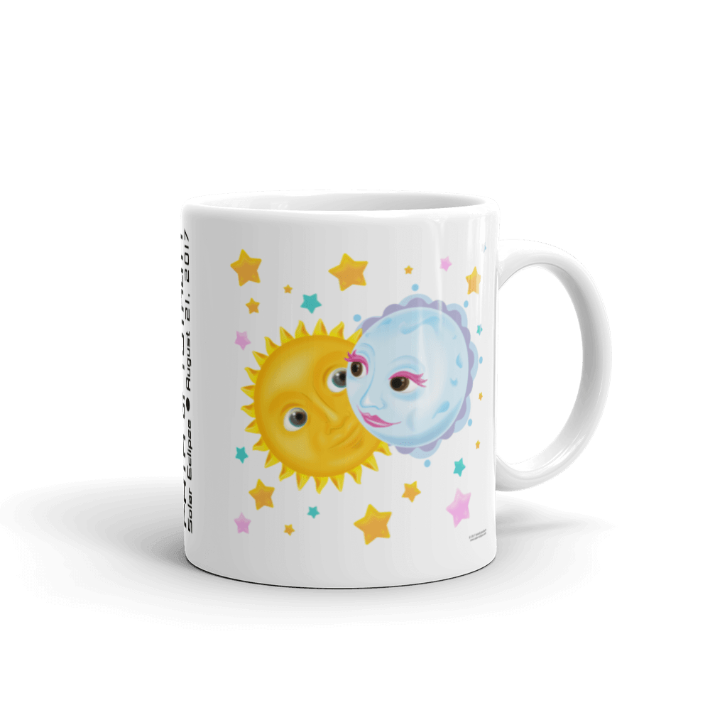 "Solar Eclipse Mug: ""Kristoff & Anna"" PATH of TOTALITY August 21, 2017 (Made in USA)"