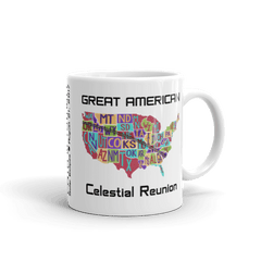 "Solar Eclipse Mug: ""USA06 POSTAL"" PATH of TOTALITY Great American Celestial Reunion August 21, 2017 (Made in USA)"