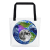 Tote Bag: - Oregon - Earth/Moon - PATH of TOTALITY Solar Eclipse August 21, 2017