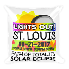 Solar Eclipse Throw Pillow: ST. LOUIS MO PATH of TOTALITY August 21, 2017