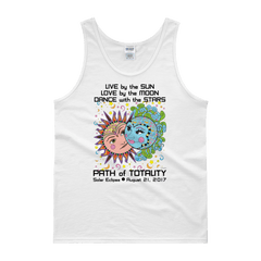 "Men's Tank Top: ""Phillip & Aurora"" LIVE LOVE DANCE PATH of TOTALITY Solar Eclipse August 21, 2017"